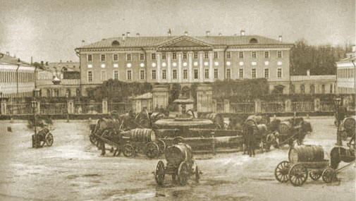 Historical view of the building. 1889.